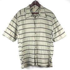 Mountain Hardwear Mens Shirt Size XL X-Large Short Sleeve Tan Button Front 36