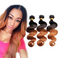 Brazilian Virgin ombre Human Hair Extensions Body Wave 3Bundle 150g Weavs 1b/30