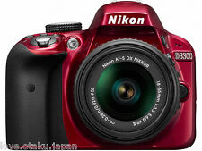Nikon D3300 Body Red + AF-S DX NIKKOR 18-55mm F3.5-5.6G VR II Lens NEW FS Japan