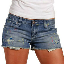 Juniors Roxy Denim Shorts 3 NEW Cute Blue Retro Cutoff Hem Surf Skate Beach $55