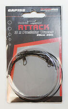 3 Grandeslam wire traces 25cm 20lb for pike,sea or predator fishing