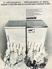 PUBLICITE  1968   LADEN    réfrigérateur frigidaire