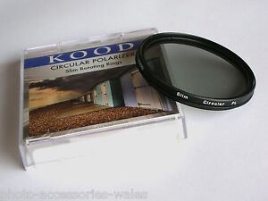 KOOD 55MM CIRCULAR POLARISING FILTER CPL PL-CIR PLC C-PL SLIM MOUNT