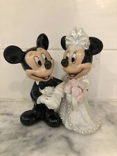 Disney Mickey and Minnie Mouse Bride-Groom Wedding Porcelain Figurine