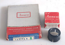 ANSCO VINTAGE BOXES 4X5 AND CONVERSION LENS IN BOX