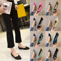 Women's Knitted Flat Shoes Classic Casual Pointed Toe Ballet Flats Shoes Fashion