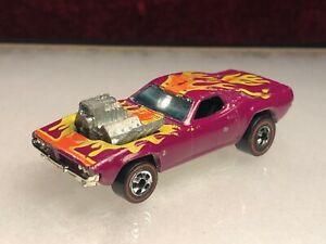 Original 1974 Hot Wheels Redline Rodger Dodger Dodge Challenger Plum Hong Kong