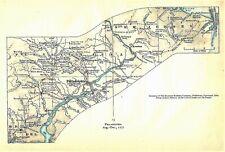 Original Antique 1777 Revolutionary War Map Titled Philadelphia, Pa