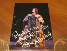 Joan Sutherland Autographed Photo Postcard PSA Pre Cert 4 x 6 In