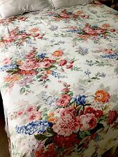 Ralph Lauren King Duvet Cover SOUTHAMPTON Beach House Floral Pinks Blues