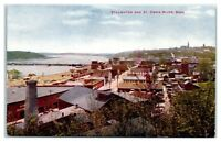 Early 1900s Hilltop View of Stillwater, MN and St. Croix River Postcard