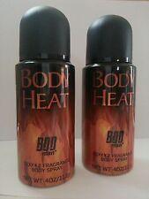(2) BODY HEAT Body Spray ~ SEXY x2 ~ Bod Man Men's 4 oz each