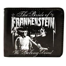 Universal Monsters We Belong Dead Men's Bifold Wallet Frankenstein Bride Horror