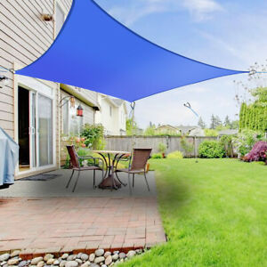Sonnensegel Quadrat Sonnenschutz Segel Beschattung UV-Schutz Blau 4x4m