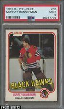 1981 O-Pee-Chee OPC Hockey #68 Murray Bannerman Black Hawks PSA 9 MINT
