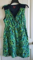 Merona Green Blue Summer Dress (Size M)