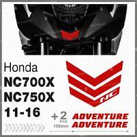3pcs Rifrangenti ADESIVI Rosso compatibile Honda NC 700 750 X 11 16 Moto NC750X