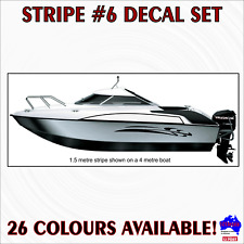 2m Stripe #6 decal sticker set.Fishing ski boat,half cabin,tinny marine striping
