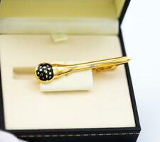 """Alfred Dunhill Sterling Silver 925 Gold Plated Enamel Tie Clip 2.3"""""""