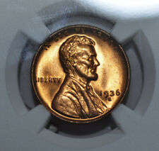 1936-S Lincoln Cent ~ NGC MS66+RD ~ Very Flashy & Immaculate