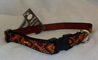 Lupine Adjustable Dog Collars NWT DOWN UNDER Pattern M - L Dog Nylon Guaranteed