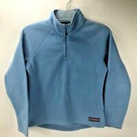 Vineyard Vines Women's 1/4 Zip Fleece Pullover Sweater Light Blue Size XS