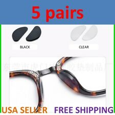 5 Pairs 1mm Anti-Slip Silicone Soft Adhesive Nose Pads for Eyeglass Sunglasses