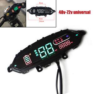 48V-72V Electric Bicycle Meter Odometer Control Panel Dash Display Universal