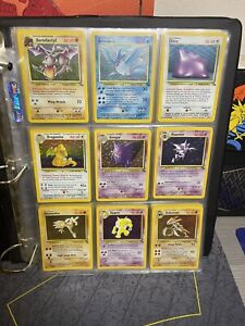 Pokemon Fossil Set Complete all 62/62 Holo Rare Never played NM-MT