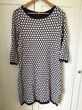 Womens Great Plains Black and White Hexagon Print Jumper Dress Size Small