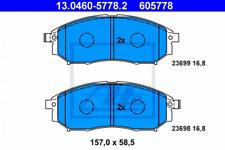 Bremsbelagsatz, Scheibenbremse für Bremsanlage Vorderachse ATE 13.0460-5778.2