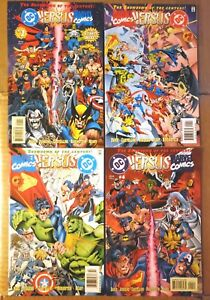 DC VERSUS VS MARVEL COMICS SET 1 2 3 4 BATMAN SUPERMAN SPIDERMAN WOLVERINE