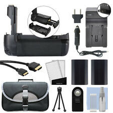 Battery Grip for Canon EOS 70D Camera + Dual Battery & Charger Deluxe Bundle