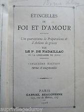 ÉTINCELLES DE FOI & D'AMOUR, Préparations & Actions de Grâces, P. de Nadaillac.