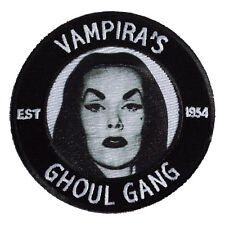 Vampira's Ghoul Gang Iron On Patch - Fan Club Gothic Goth Girl 037-A