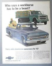 Original 1967 Chevrolet C-10 Pickup Ad WHO SAYS A WORKHORSE HAS TO BE A BEAST?
