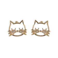 Lux Accessories Gold Tone Kitty Cat Whiskers Meow Feline Stud Post Earring