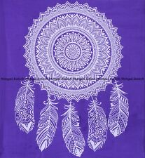 Indian leaf floral mandala queen tapestry bohemian wall hanging bedspread throw