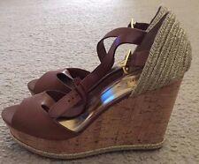 Brand New Lauren Ralph Lauren Polo Tan Women's Brown Wedge Sandal Shoes Size 9