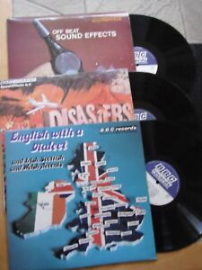 RARE BBC RECORDS LOT OF 3 x LPs ENGLISH WITH DIALECT DISASTERS + OFF BEAT