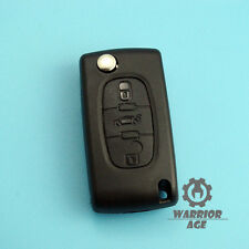 Flip Remote Key Shell Fob Case Uncut Blade For Peugeot 406 407 408 307 107 3 BTN