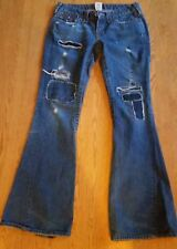 True Religion Womens Joey Destroyed Flare Blue Jeans Size 29 W32 L33 -  EUC