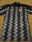 Rare England Goalkeeper Shirt 1989, Not Original Badge, Size Small