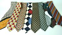 Men's Assorted Multi-Color Dress Neck Ties Lot Of 8 SILK Designer Brands  #1008
