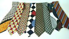 Men's Assorted Multi-Color Dress Neck Ties Lot Of 8 SILK Designer Brands  #1008