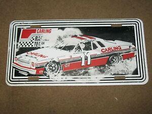 VINTAGE 1970'S NASCAR CALE YARBOROUGH JUNIOR JOHNSON CARLING METAL LICENSE PLATE