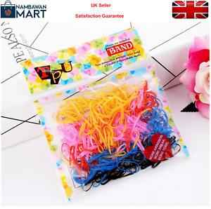 200 x Poly Rubber Hair Elastic Bands  Bobbles Cornrow Braiding UK Seller AC1042