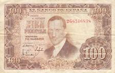 Billet banque ESPAGNE SPAIN ESPANA 100 PTS 1953 état voir scan 838