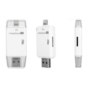 O11 i-Flash Drive HD OTG Memory Stick Device iPhone Apple iOS über micro B Karte