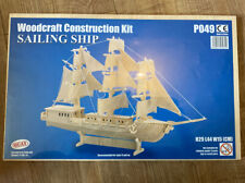 Woodcraft Constrution Kit- Sailing Ship- By Quay